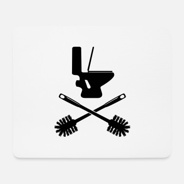 Toilet Brush Toilet with toilet brush - Mouse Pad