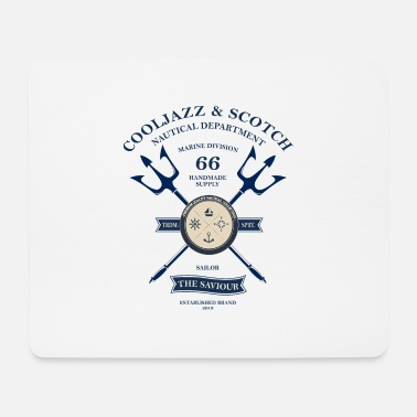 CoolJazz & Scotch Nautical Department Mojo Design - Mouse Pad