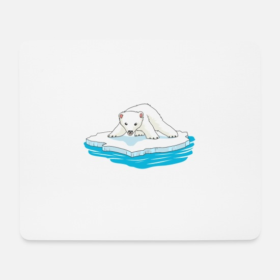 Polar Bear Mouse Pads - Polar bear polar bear bears animals - Mouse Pad white