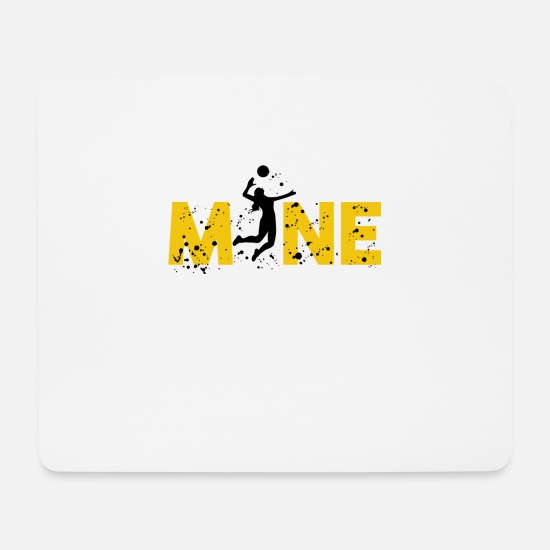 Movers Mouse Pads - VOLLEYBALL FISTBALL BEACH VOLLEYBALL GIFT - Mouse Pad white