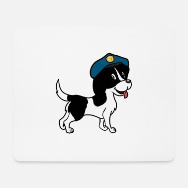 Police Dog Dog police dog dogs watchdog pets police - Mouse Pad