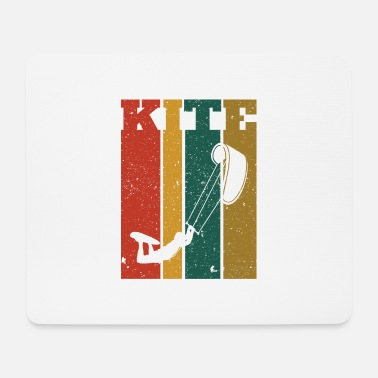 Kiteboard Retro Kiteboard Kiteboarder Kiteboarding - Mouse Pad