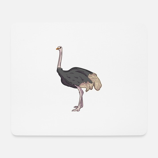 Ostrich Mouse Pads - Ostrich Illustration - Mouse Pad white