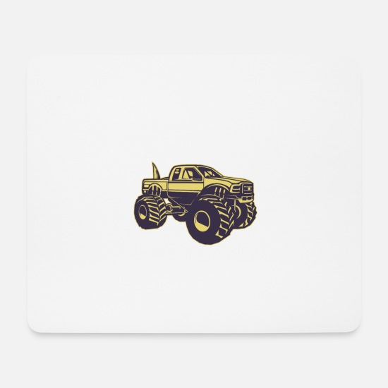 Big Ben Mouse Pads - Big Foot Monster Truck - Mouse Pad white