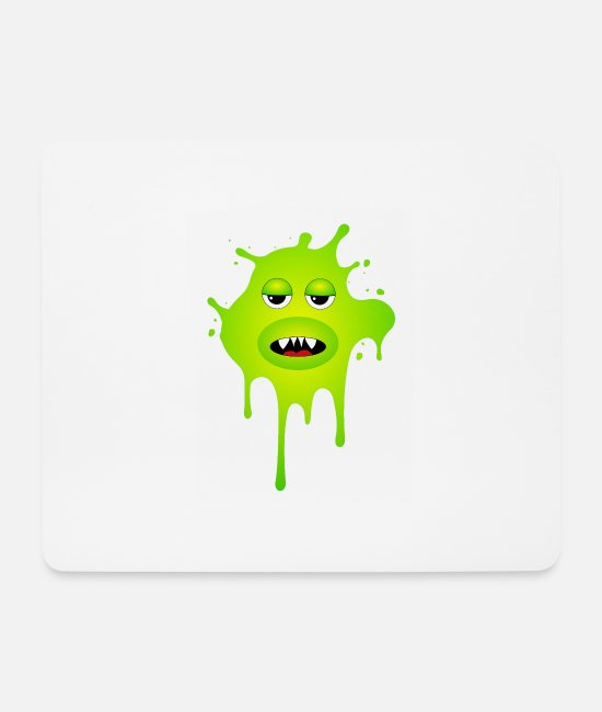 Party Mousepads - Schleimmonster - Mousepad Weiß