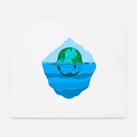 Gift Idea Mouse Pads - Climate Environment Protection Plastic in the sea Gift - Mouse Pad white