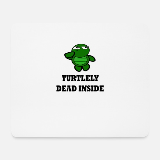Broken Mouse Pads - Turtle pun on Hangover - Mouse Pad white
