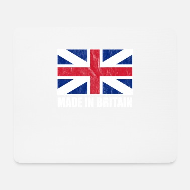 Union Jack Westminster Abbey Tower Bridge Großbritannien - Mousepad