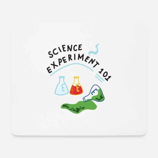 Birthday Mouse Pads - Science Wissenschaft Experiment Shirt - Mouse Pad white