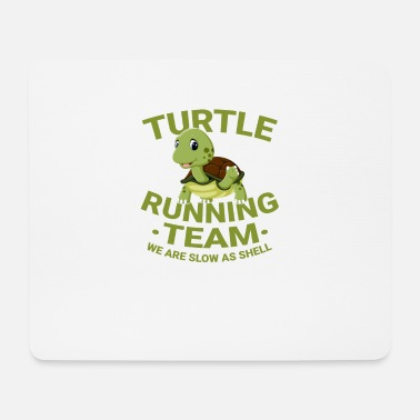 Turtle running race jogging marathon gift - Mouse Pad