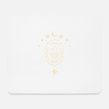 Space Lion and Stars - Mousepad