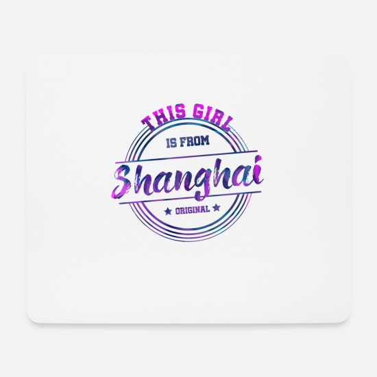 Tourist Mouse Pads - Shanghai China - Mouse Pad white