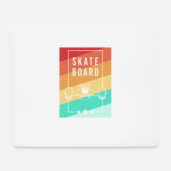 Gift Idea Mouse Pads - Skateboard vintage skater gift skating - Mouse Pad white