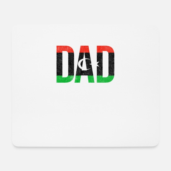 Father's Day Mouse Pads - Libya Dad Fathers Day - Mouse Pad white