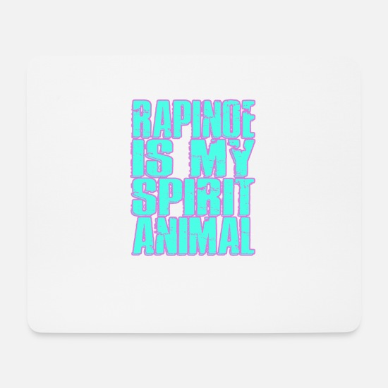 Birthday Mouse Pads - Rapinoe Is My Spirit Animal - America Football - Mouse Pad white