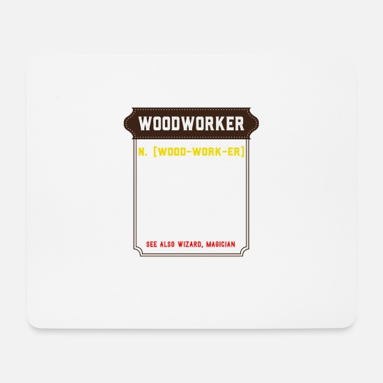 Occupation Mouse Pads - Funny carpenter joiner profession design - Mouse Pad white