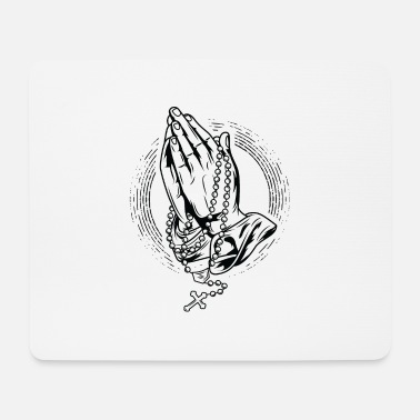 Rosary Praying Rosary Praying Praying Hands Rosary God - Mouse Pad