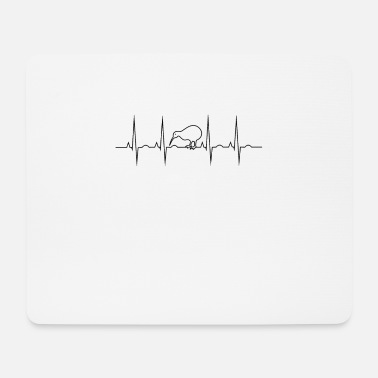 New Zealand kiwi - EKG heartbeat. I love NZ - Mouse Pad
