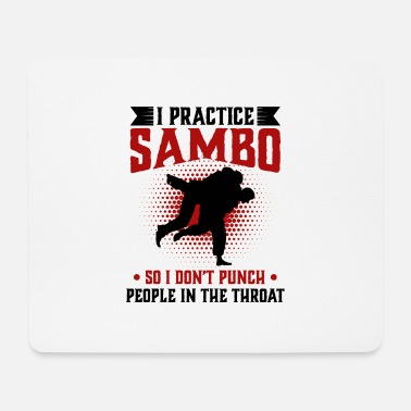 Herring I practice Sambo So I Don't Punch People In The - Mouse Pad