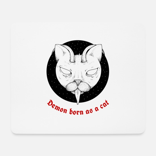 Katzenauge Mousepads  - Scary Cats und Kitten Demon Lover Butt in der Kunst - Mousepad Weiß