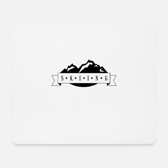 Group Mouse Pads - Skiing Mountains - Mouse Pad white