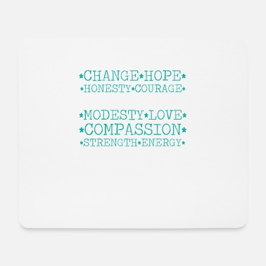 Modesty Mindfulness - Change, Hope, Honesty, Courage - Mouse Pad