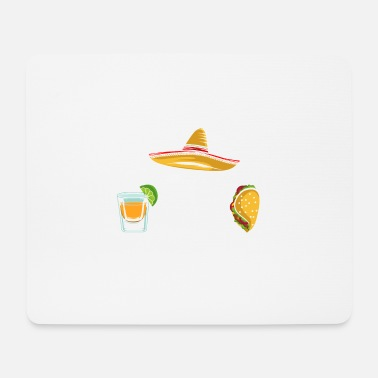 Alcoholic Taco Tequilla Fan Mexico Food Culture Hat Gift - Mouse Pad