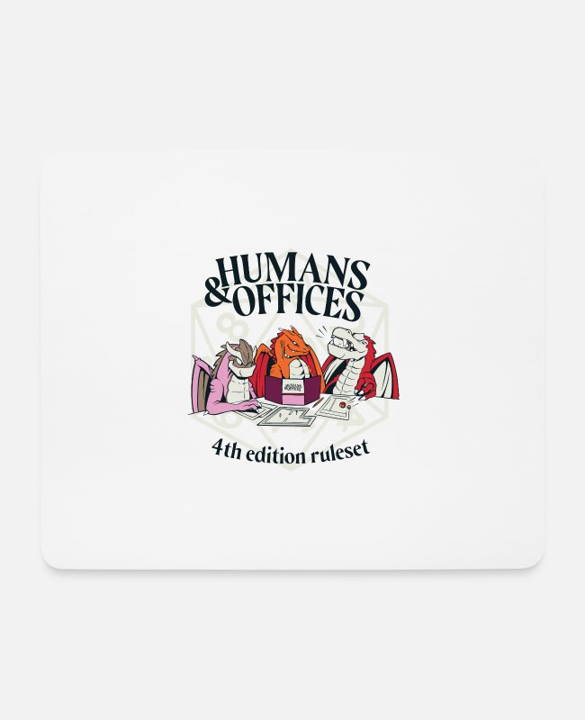 Office Mouse Pads - Humans Offices 4th edition ruleset Human Resources Office - Mouse Pad white