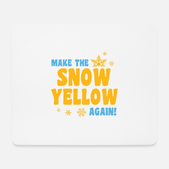 Gift Idea Mouse Pads - urine in the snow party shirt - Mouse Pad white