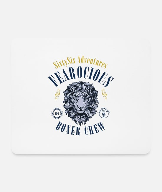 Alps Mouse Pads - 66Adventures - Fearocious Boxer Crew - Mouse Pad white