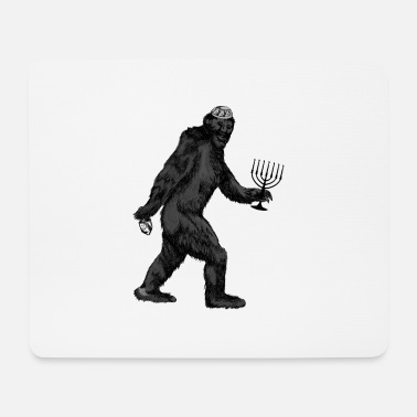 Ugly Chanukka Menora Chanukka Hanukkah Bigfoot Dreidel - Mousepad