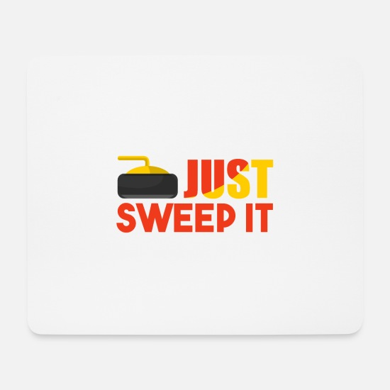 Gift Idea Mouse Pads - Just Sweep It - gift for curlers - Mouse Pad white