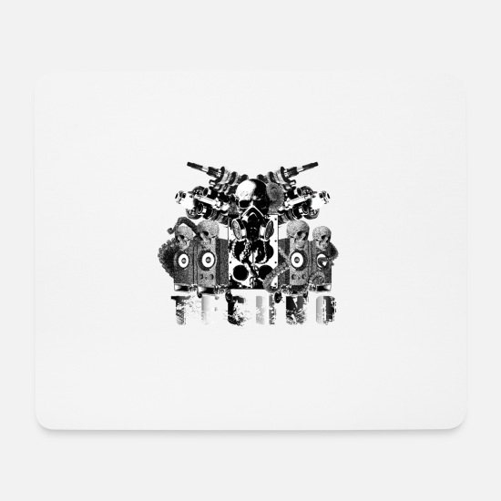 Hardstyle Mouse Pads - Techno Authority Hardstyle Amsterdam Underground - Mouse Pad white