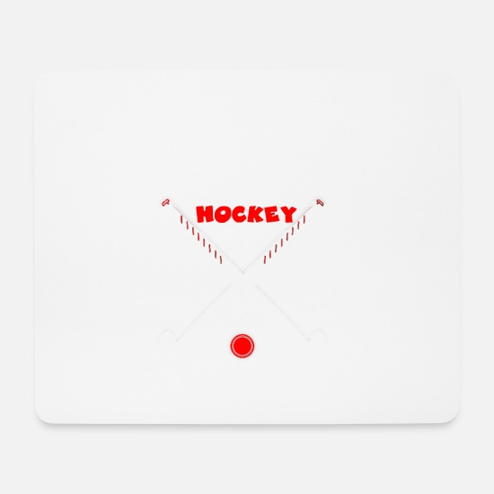 Floor Hockey Mouse Pads - My Blood Type is Hockey - field hockey - Mouse Pad white