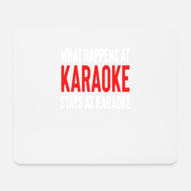 Father And Son What Happens At Karaoke Stays At Karaoke - Mouse Pad