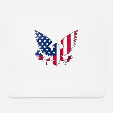 4th Birthday American Eagle Fleur-de-lis Flag French American 4 - Mouse Pad