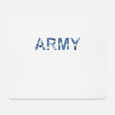 Rank Army camouflage blue pattern - Mouse Pad