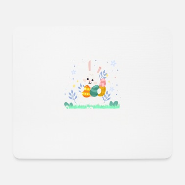 Earring Follow The Bunny - Easter Egg Hunting Rabbit Eggs - Mouse Pad