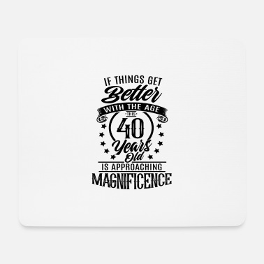 40th Birthday 40th birthday present for 40th - Mouse Pad