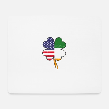 Irlande Irish Blood American Heart St Patrick's Day - Tapis de souris