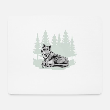 Grey gray wolf wolf pack wolf mother forest shirt - Mouse Pad