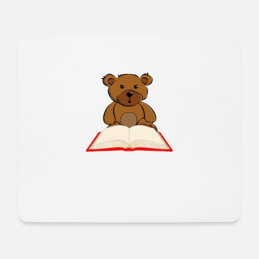 Onderwijs Bear Reading Book - Bookworm Gift - Muismat