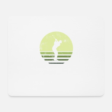 Golf Retro green golf player - Mouse Pad