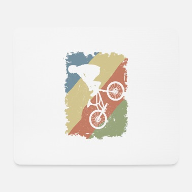 Cycling BMX Freestyle Vintage Rider Stunt - Mouse Pad