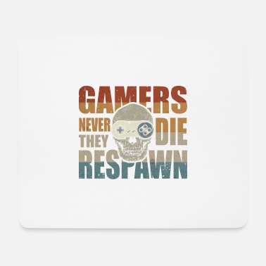 Clasic Retro gamer classic video game gaming controller - Mouse Pad