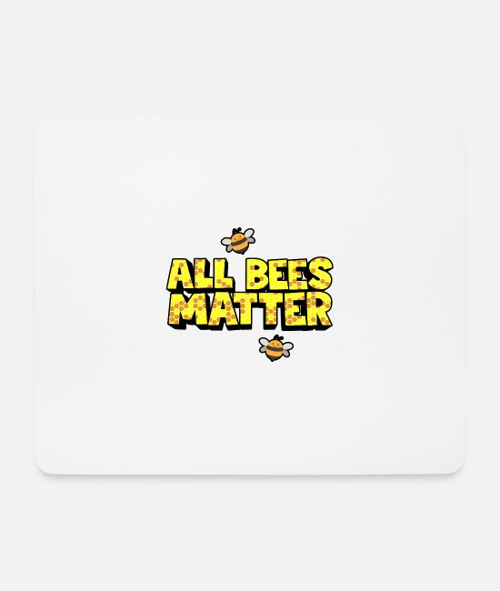 Save The Bees Mouse Pads - All bees are important - Mouse Pad white