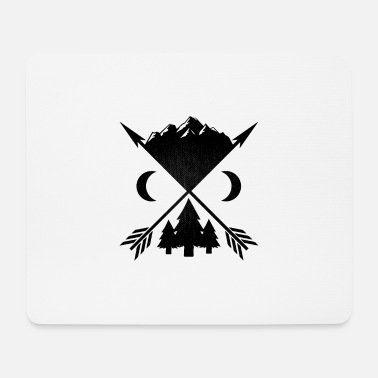 Wilderness Arrows trees and mountains - Mouse Pad