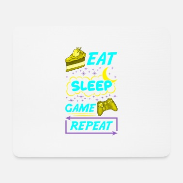 Manga Gamer Eat Sleep Game Repeat Anime Kawaii Gaming - Mouse Pad