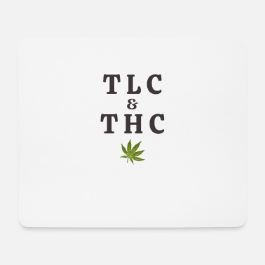 Tlc 420 Pot Leaf Graphic / Marihuana Plant Saying / - Mousepad
