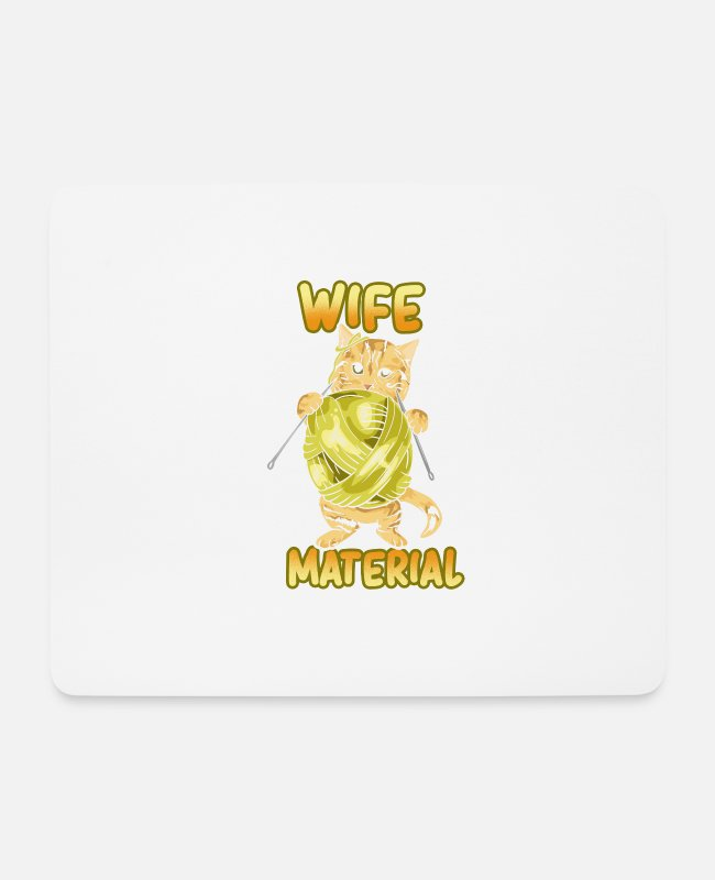 Cats Mouse Pads - Knitting - Cats Wife Material - Home - Mouse Pad white